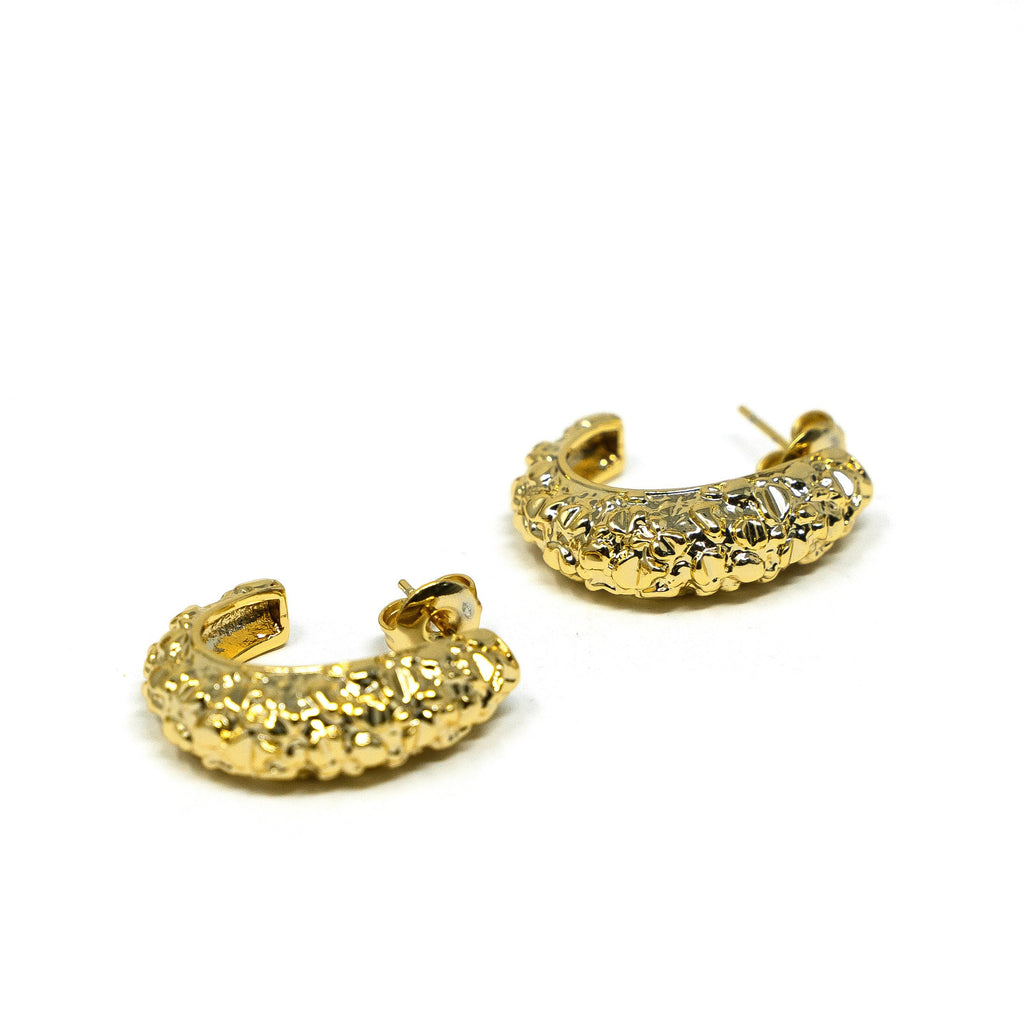 Rocky Gold Hoop Studs JEWELRY The Sis Kiss