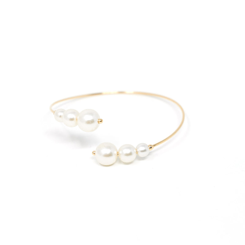 Pearl and Gold Wrap Cuff JEWELRY The Sis Kiss