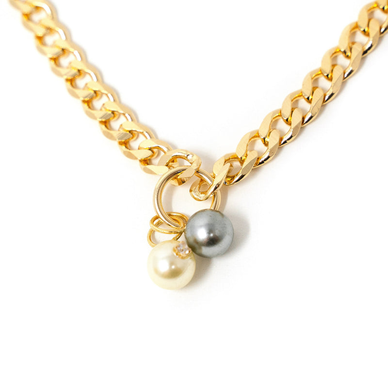 Cuban Chain Link Charm Necklaces JEWELRY The Sis Kiss Pearls