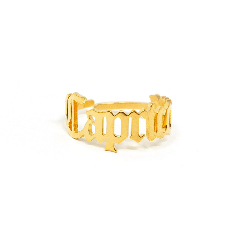 Zodiac Olde English Adjustable Rings JEWELRY The Sis Kiss Capricorn