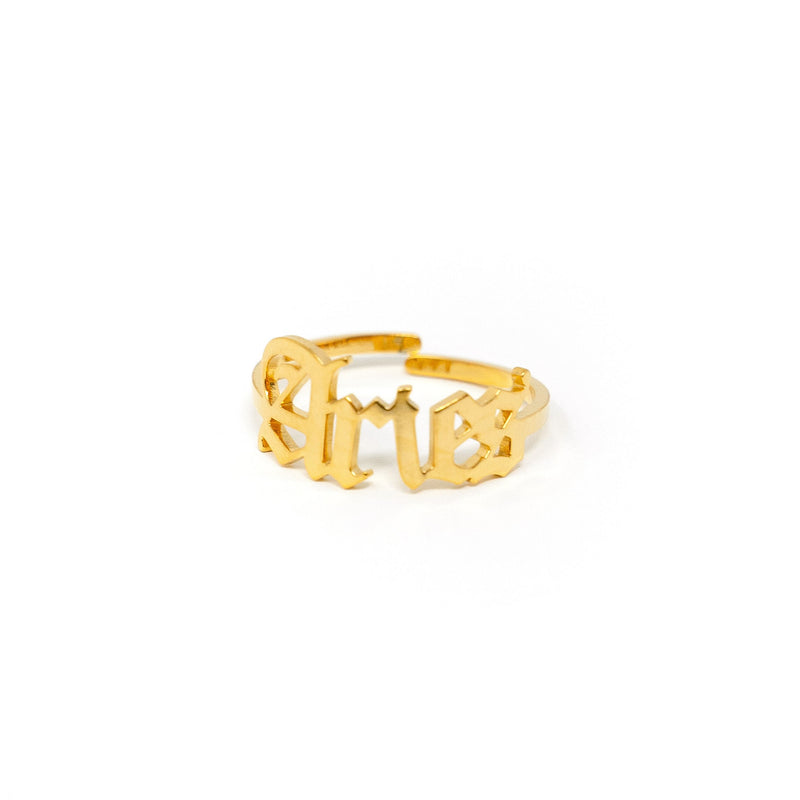 Zodiac Olde English Adjustable Rings JEWELRY The Sis Kiss Aries