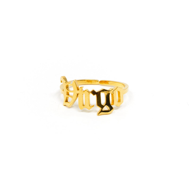 Zodiac Olde English Adjustable Rings JEWELRY The Sis Kiss Virgo