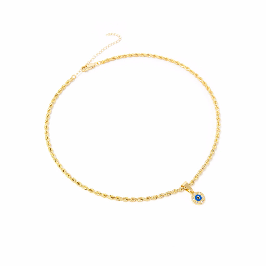 Classic Evil Eye Choker necklace The Sis Kiss