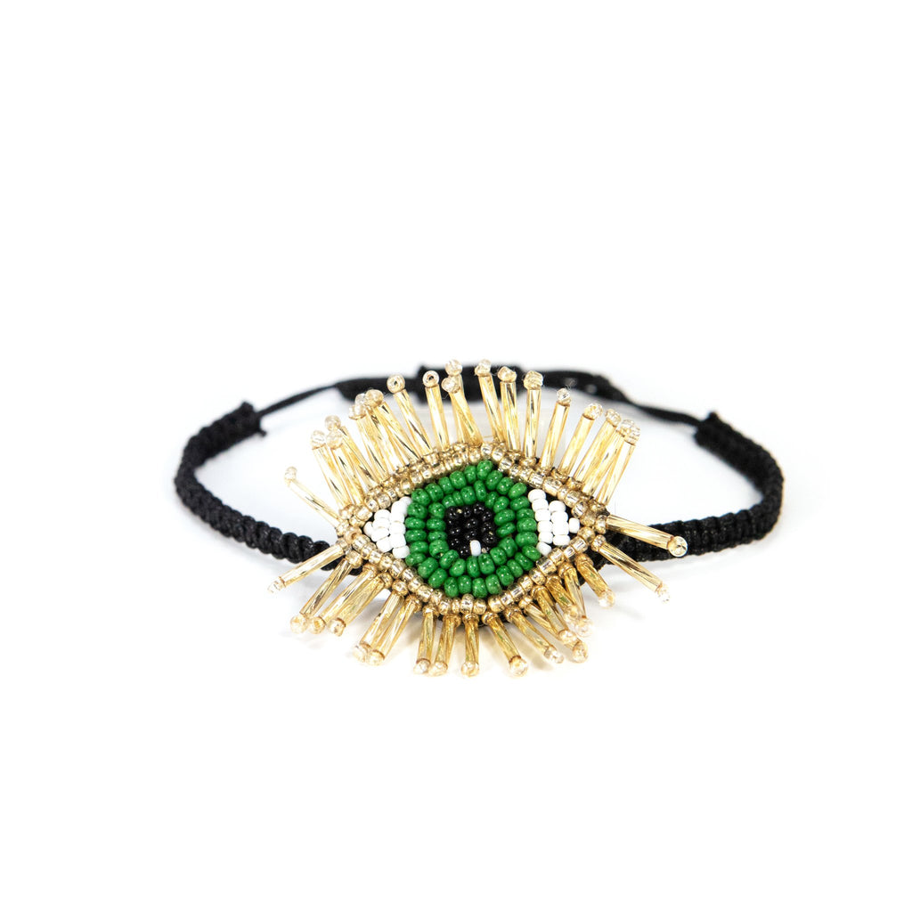 Festival Bracelets JEWELRY The Sis Kiss Green Evil Eye