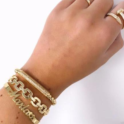 Gold Chain Link Cuff JEWELRY The Sis Kiss