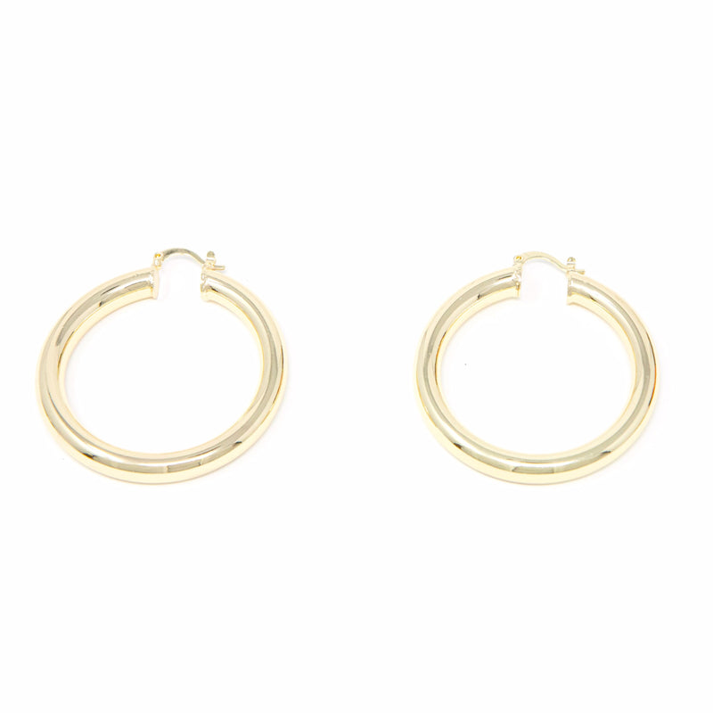 Bold in Gold Hoop Earrings JEWELRY The Sis Kiss Large