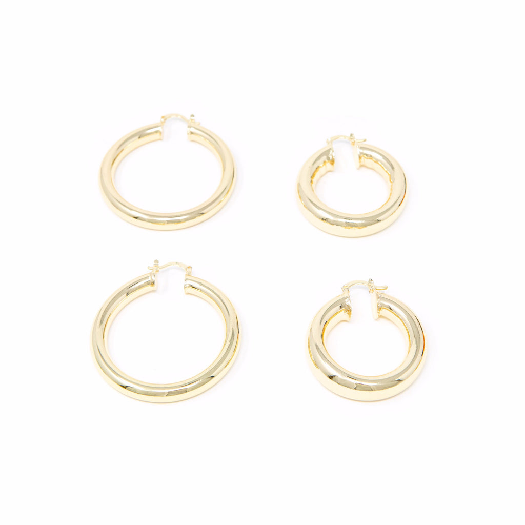 Bold in Gold Hoop Earrings JEWELRY The Sis Kiss