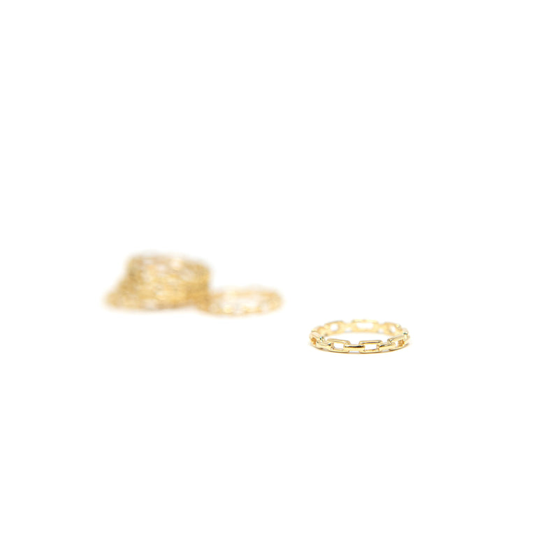Gold Link Rings JEWELRY The Sis Kiss Small 6