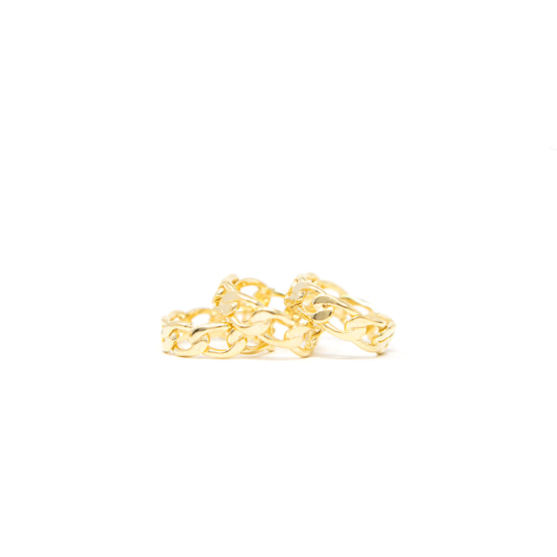 Gold Link Rings JEWELRY The Sis Kiss
