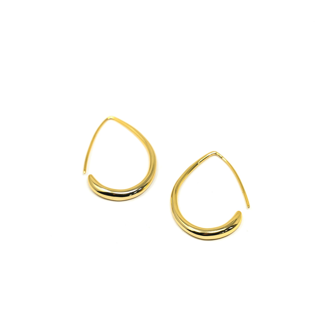 Gold Teardrop Hoop Earrings JEWELRY The Sis Kiss