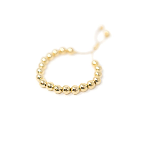 Gold Beaded Adjustable Bracelet