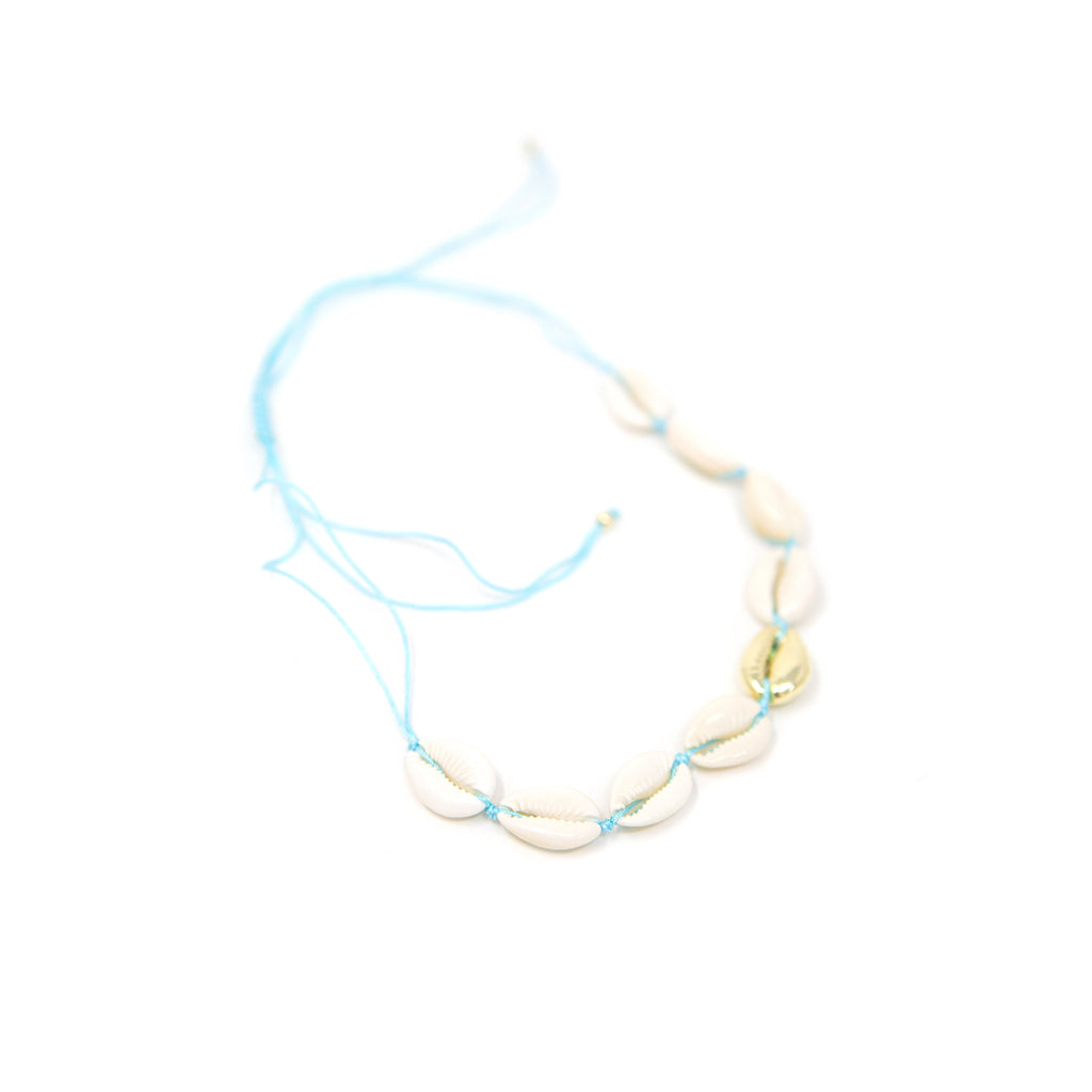 Gold and Neutral Shell Choker necklace The Sis Kiss