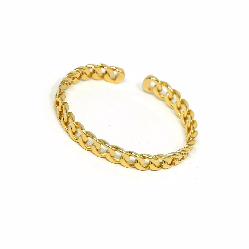 Gold Chain Link Cuff JEWELRY The Sis Kiss Gold Curb Chain