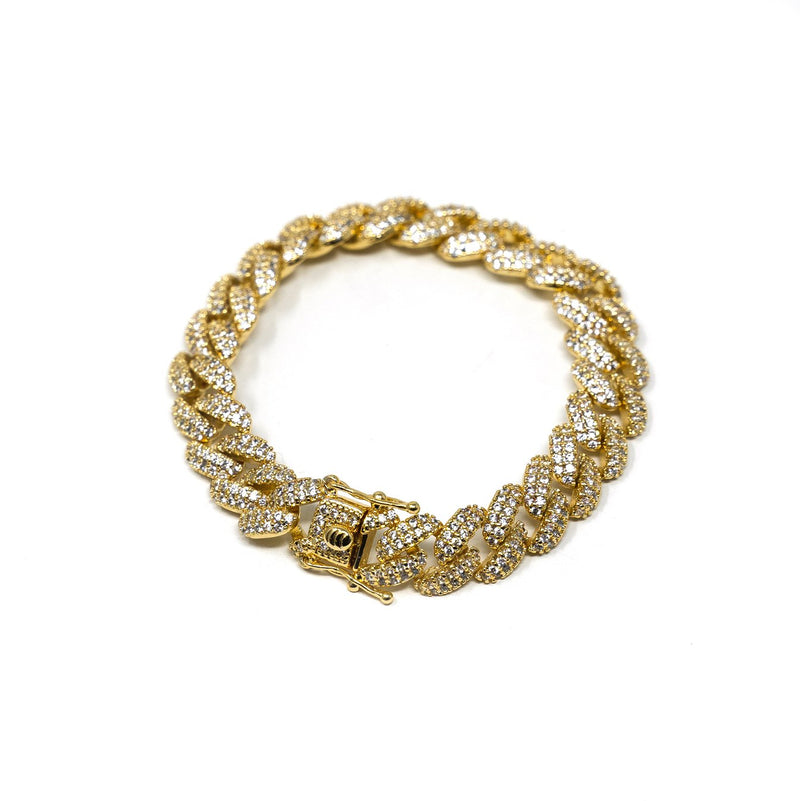 Classic Crystal Cuban Chain Bracelet JEWELRY The Sis Kiss