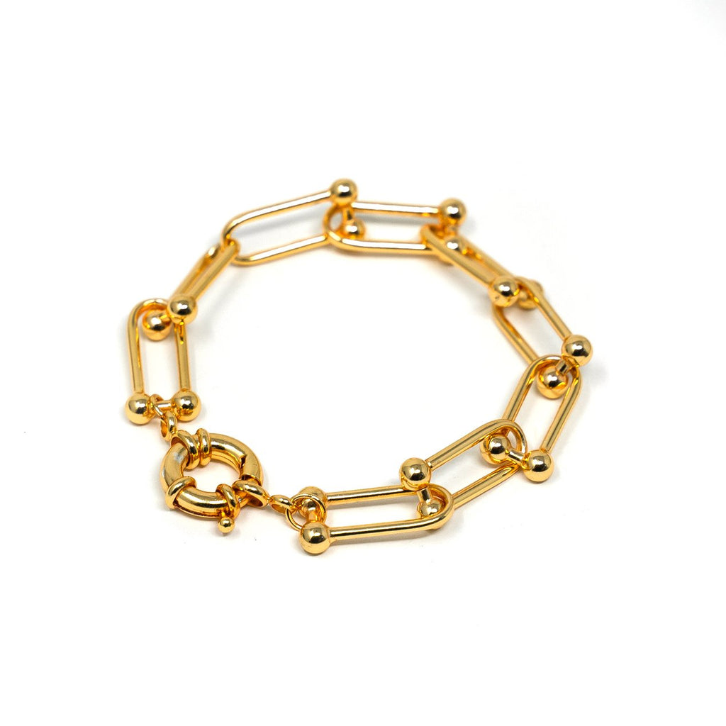 Graduated Chain Link Bracelet JEWELRY The Sis Kiss