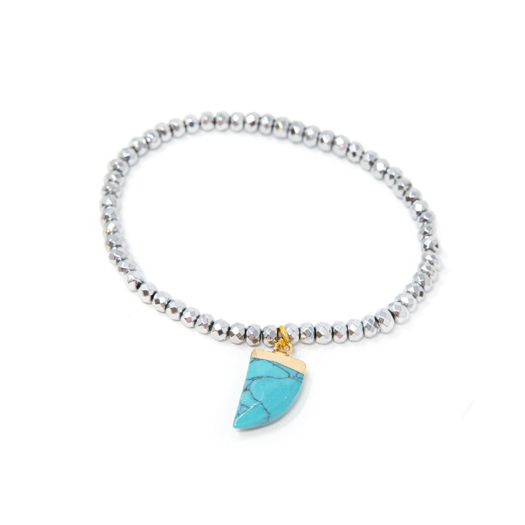 Sparkle & Charm Bracelets JEWELRY The Sis Kiss Turquoise Horn