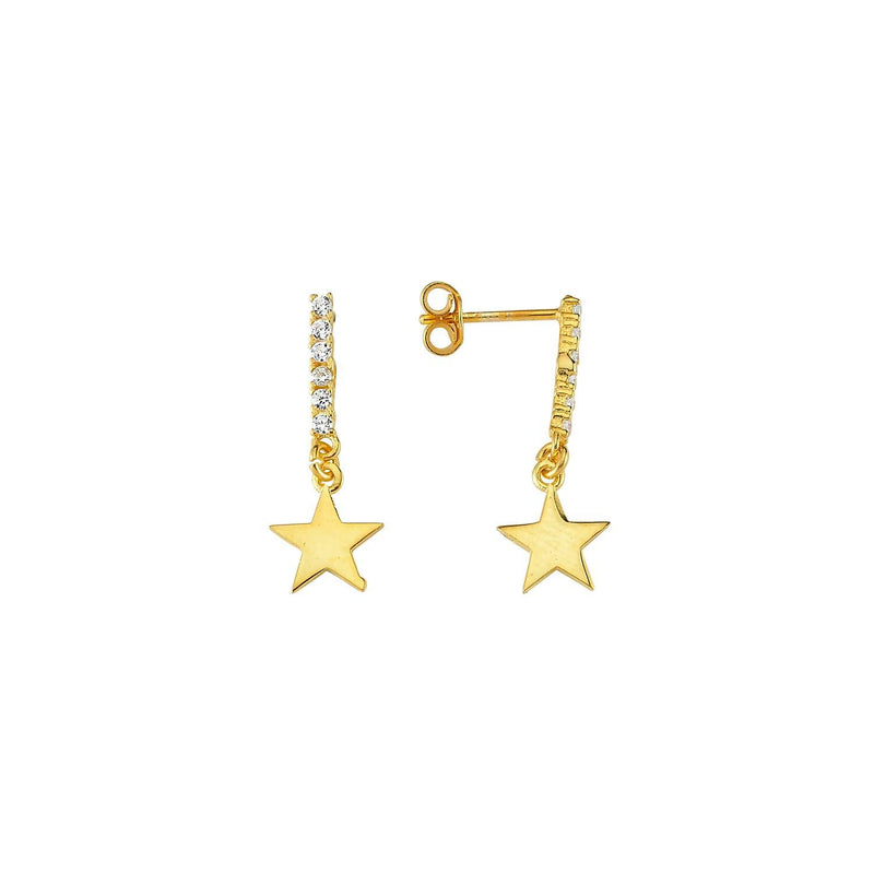 Dainty Falling Star Stud Earrings JEWELRY The Sis Kiss
