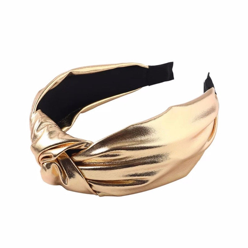 Metallic Headbands ACCESSORY The Sis Kiss Gold