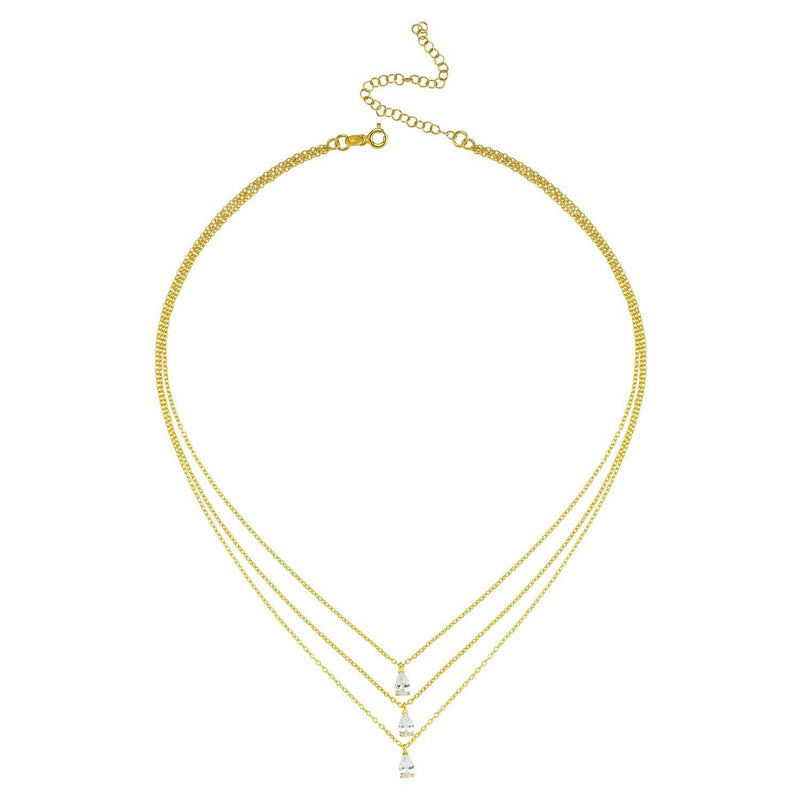Triple Teardrop Three-In-One Necklace JEWELRY The Sis Kiss