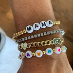 Pink and Gold Mama Adjustable Bracelets JEWELRY The Sis Kiss