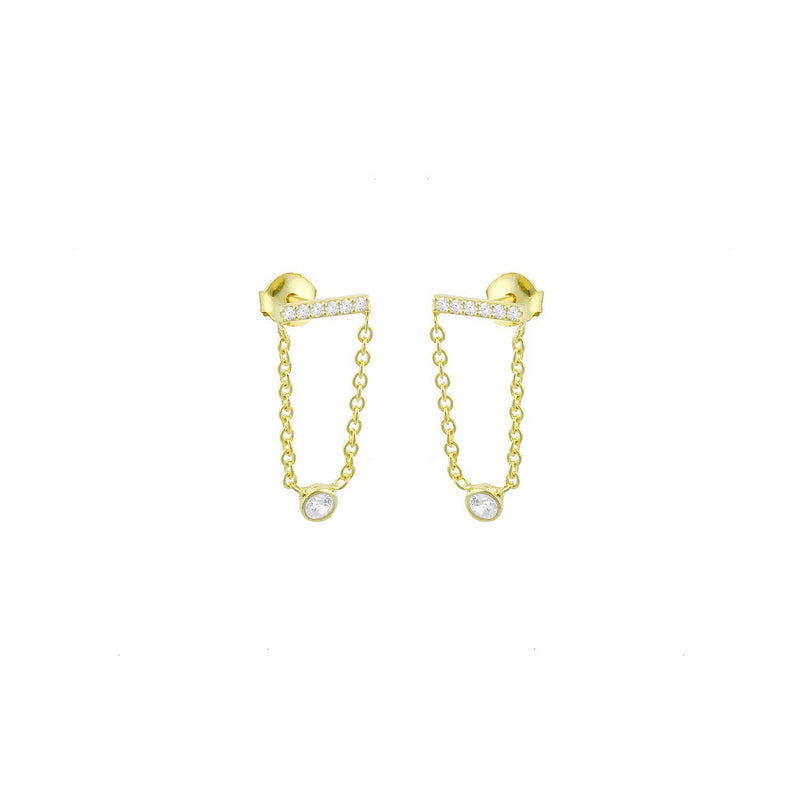 Dainty Crystal Drop Earrings JEWELRY The Sis Kiss