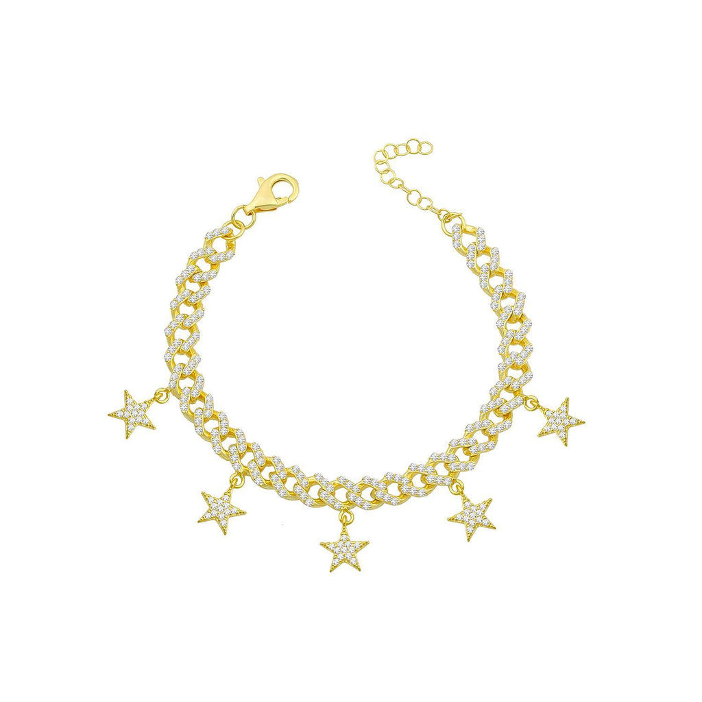 Five Star Charm Pavé Chain Bracelet JEWELRY The Sis Kiss