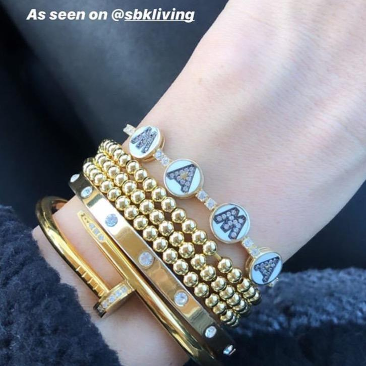 Good in Gold Beaded Bracelet JEWELRY The Sis Kiss