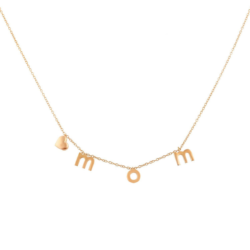 It's All in a Name™ Lower Case Personalized Necklace JEWELRY The Sis Kiss Rose Gold NO Crystals