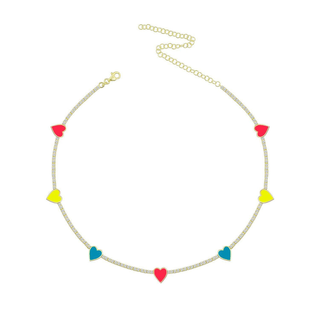 Neon Hearts Choker JEWELRY The Sis Kiss