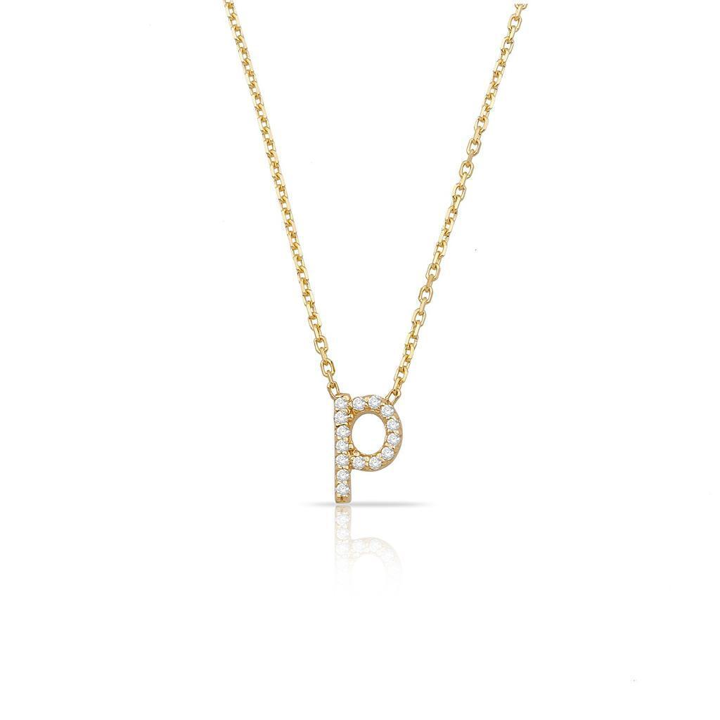 TSK Perry St. Diamond Initial Necklace JEWELRY The Sis Kiss