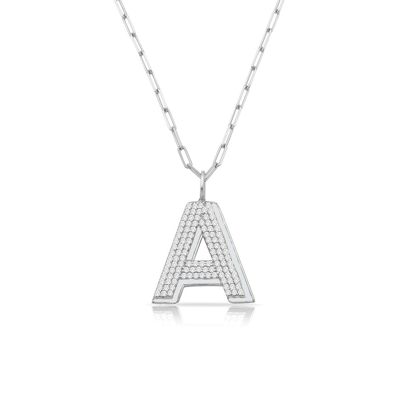 TSK Park Avenue Diamond Initial Pendant JEWELRY The Sis Kiss