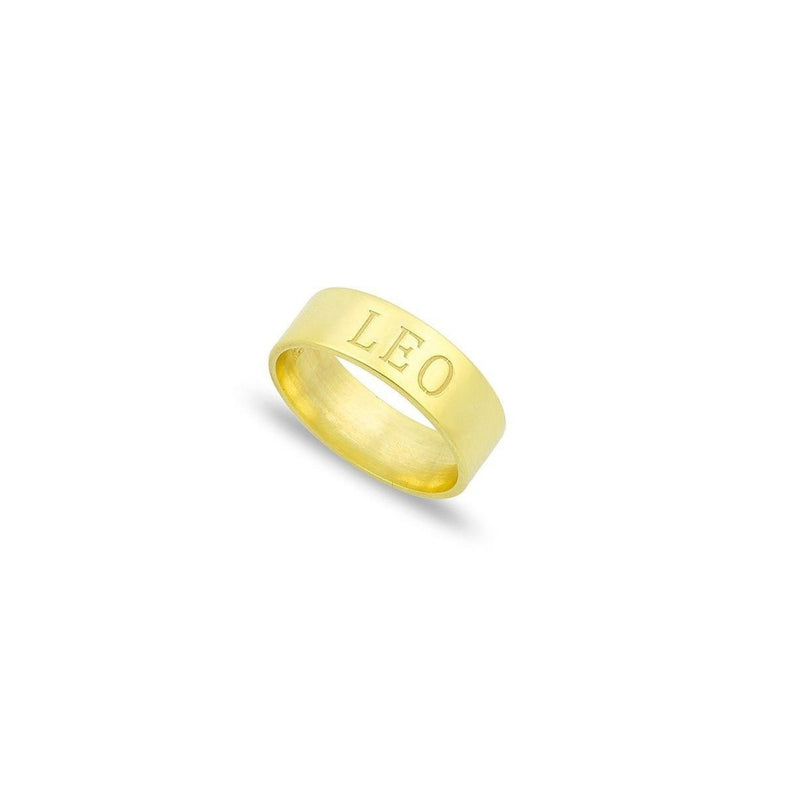 Custom Name Band Ring JEWELRY The Sis Kiss 6 Gold