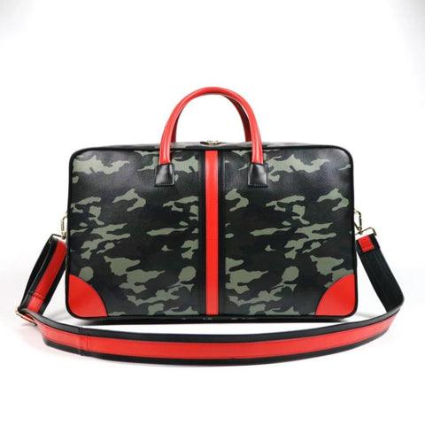Pop of Color Camo Weekender Bag