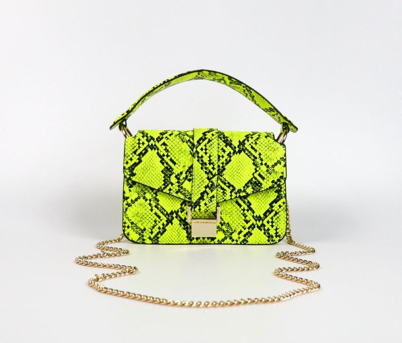 Soho Neon Snakeskin Bag BAG The Sis Kiss
