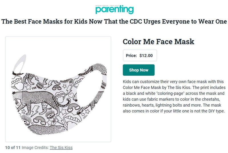 TSK Face Masks - Adults & Kids! ACCESSORY The Sis Kiss