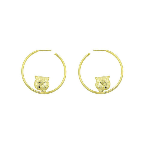 TSK Tiger Hoop Earrings