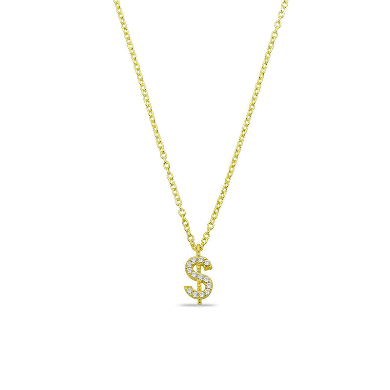 Money Mood Dollar Sign Necklace necklace The Sis Kiss