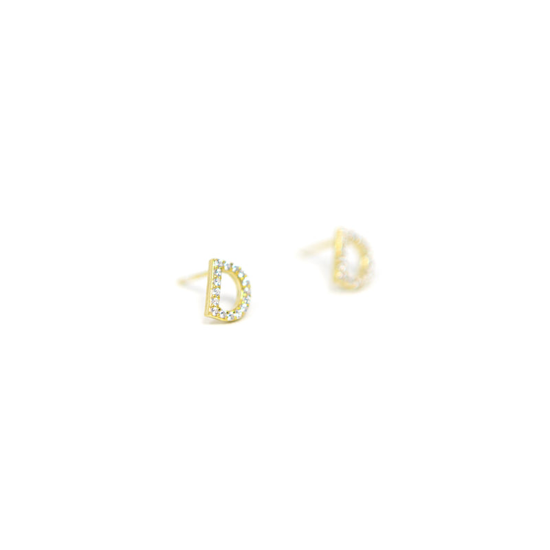 Classic Initial Earrings JEWELRY The Sis Kiss
