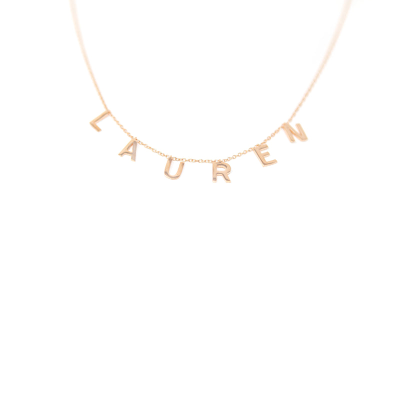 It's All in a Name™ Personalized Necklace JEWELRY The Sis Kiss Rose Gold NO Crystals
