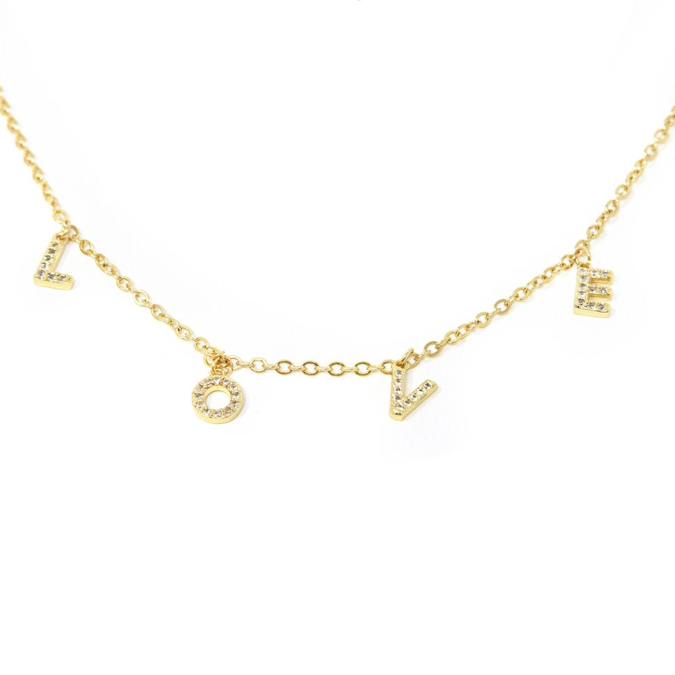 Love Name Necklace The Sis Kiss Love
