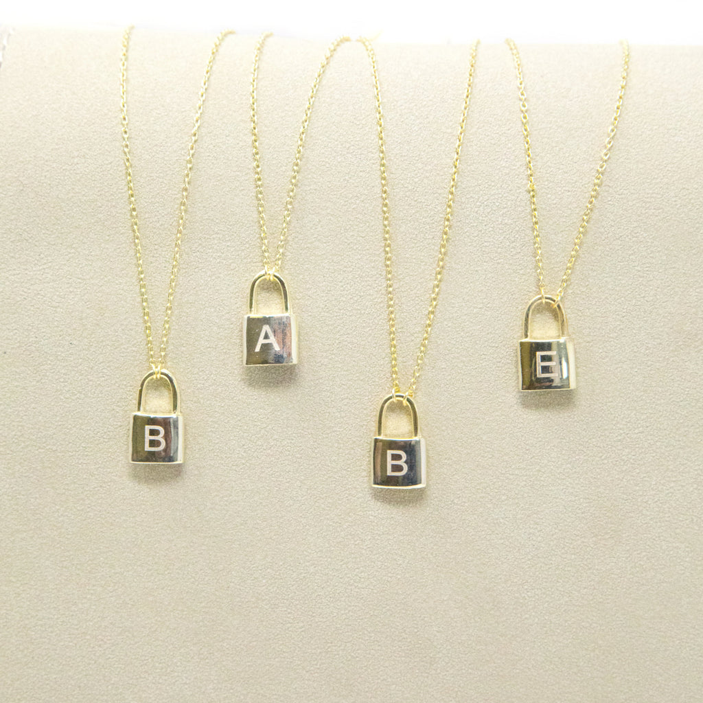 The Sweetest Initial Lock Necklace