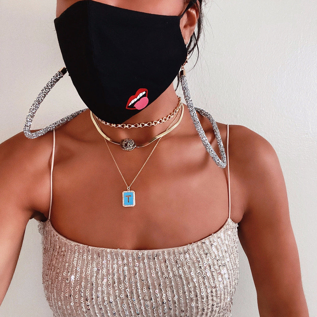 Gold and Crystal Infinity Chain Choker JEWELRY The Sis Kiss