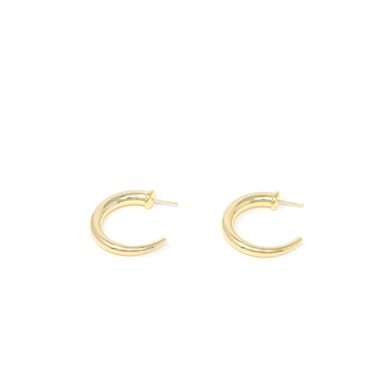 Just for You Gold Hoops JEWELRY The Sis Kiss Medium