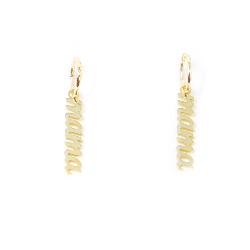 Mama Dangle Script Earrings JEWELRY The Sis Kiss