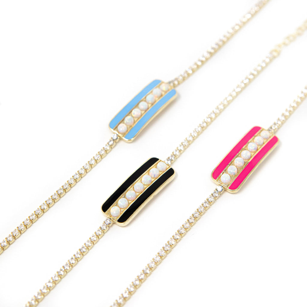 Opal Bar Tennis Bracelets JEWELRY The Sis Kiss