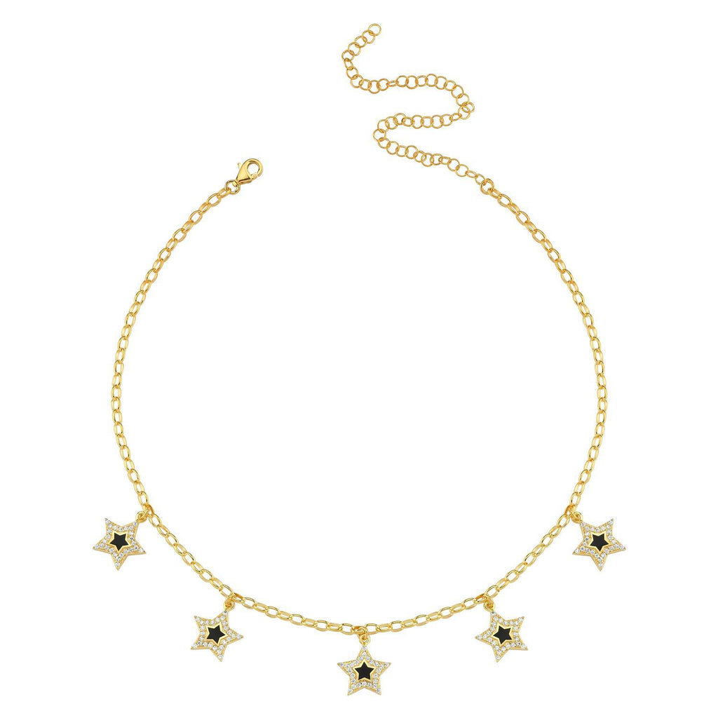 Five Points Star Charm Choker necklace The Sis Kiss