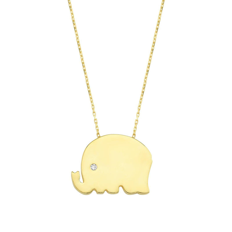 Lucky Elephant Pendant Necklace necklace The Sis Kiss