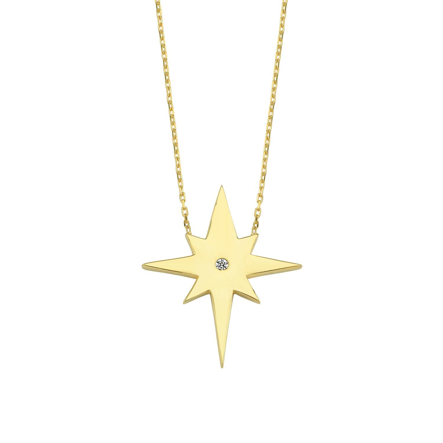 North Star and Crystal Pendant Necklace