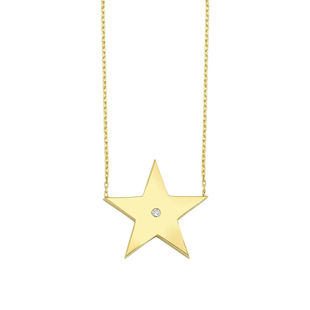 Classic Star with Crystal Pendant Necklace necklace The Sis Kiss