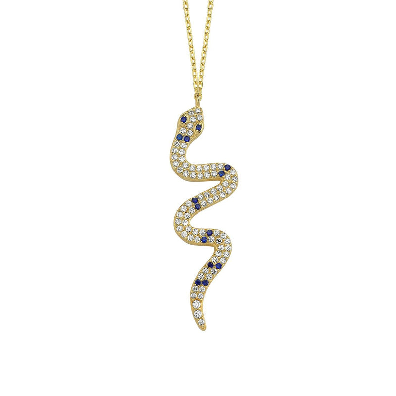 Crystal Snake Pendant Necklace necklace The Sis Kiss